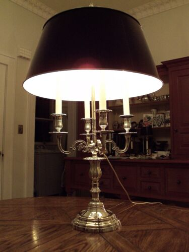 French Louis XV Silverplated Bronze Bouillotte Lamp/Decoules Paris-Maison Bagues