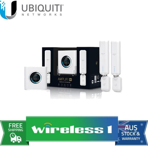 Ubiquiti Amplifi HD Router WiFi Mesh System with 2 x AmpliFi HD Meshpoint