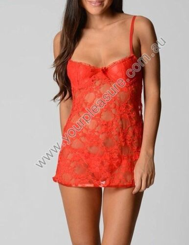 YP Grace 2 Piece Sexy Babydoll Lingerie Set sizes 6 8 10 12 14 16 18 Colour Red