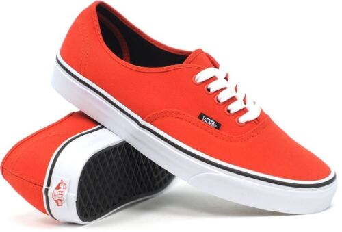 Vans Shoes Authentic Fiery Red Black USA Size FREE POST Skateboard Sneakers