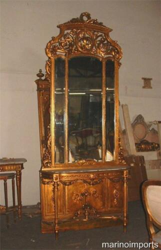 19th C. Best French Pier Mirror & Marble Console Table