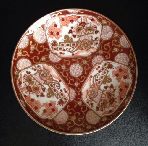 "Antique Gold Imari Hand Painter Japanese 11"" Plate, Platter, Charger. Beautiful"