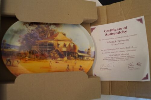 Collectable - Darcy Doyle - Limited Series - COA - Taking it Seriously - Plate.
