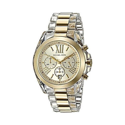 Michael Kors Watch MK6319 Chronograph Bradshaw Goldtone Acetate Watch Agsbeagle <br/> Authentic Michael Kors Items From MK Stores US