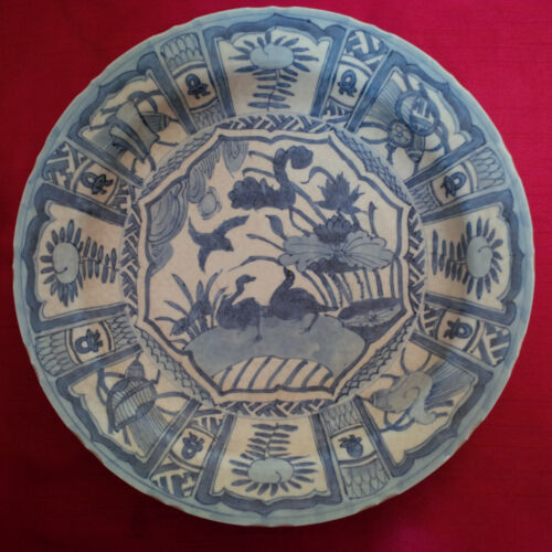 Old and Antique Chinese Ming Wanli Kraak Large Dish