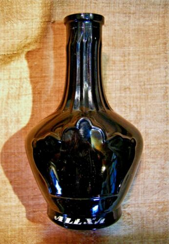 """Prince George of Russia"" Black Glass Perfume bottle c. 1910"