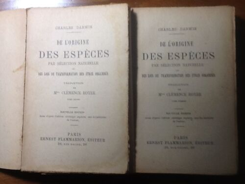 CHARLES DARWIN__1918__DE L' ORIGINE DES ESPECES PAR SELECTION NATURELLE