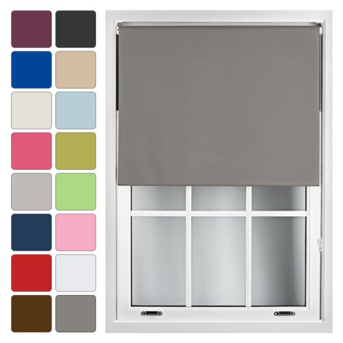 Blackout Window Roller Blinds Made To Measure Up to 240cm x 210cm <br/> Buy 4 Pay 3! FREE Made to Measure up to 240cm x 210cm!