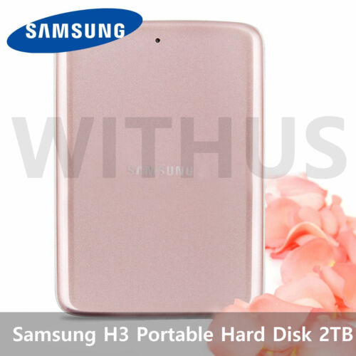 SAMSUNG H3 Portable External Hard Disk Drive HDD USB 3.0 2TB - PINK W