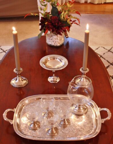 Alvin Sterling Silver Cocktail Hostess Service - Pieces - Pre WWII - Beautiful!!