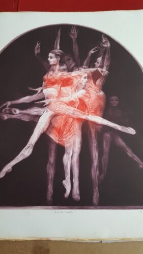 """G.H.Rothe """"Dance Portfolio"""" signed and numbered done in Mezotint etching w/certs"""