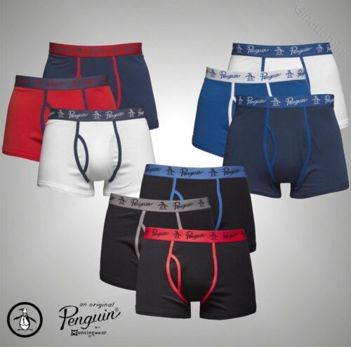 3 Pack Mens Original Penguin Stretch Jersey Boxer Trunks Sizes from S to XL