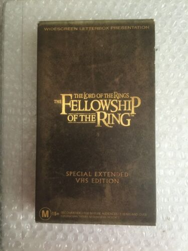 The Lord Of The Rings The Fellowship Of The Ring Special Edition VHS Video Tape