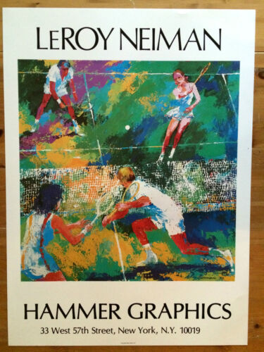 "LeRoy Neiman Lithograph ""Tennis Doubles"" Made in 1977"