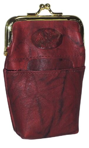 New Buxton Women's Heiress Pik-Me-Up High Quality Leather Framed Cigarettes Case