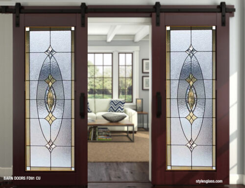 stained glass Barn  Or Pocket doors