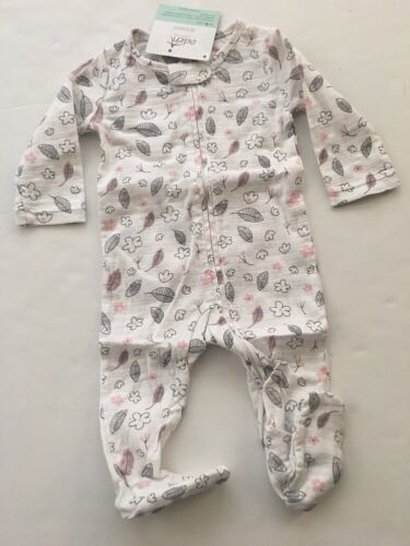 Aden by Aden & Anais Baby Girl Muslin Coverall Sleeper Size 3-6 Months Floral