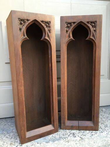 SALE !Nice Antique French Neo Gothic Chapel / Display cabinet in wood circa 1900