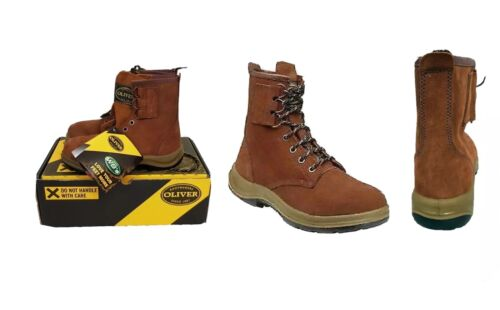 OLIVER 33660 SUEDE LEATHER STEEL CAPPED WORK BOOTS RUBBER SOLE MENS  US: 5 UK: 4