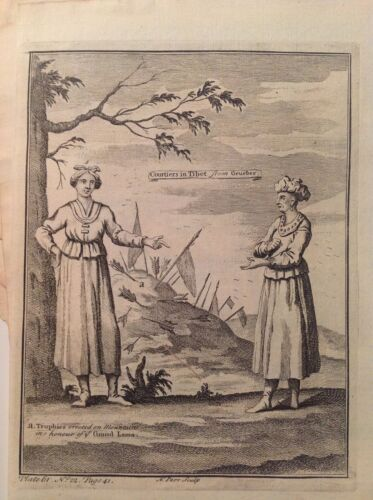 Courtesans in Tibet from Grueber Women in Costume Etching 1746 Thomas Astley