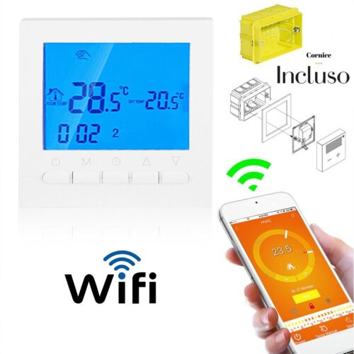 Cronotermostato Termostato Programmabile WiFi Wireless Digitale SETTIMANALE 503