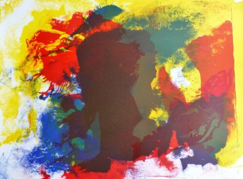 """PAUL JENKINS """"FIVE INVOCATIONS II"""" 1997 HAND SIGNED Lithograph US Artist"""