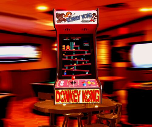 Top Holiday Gifts  Tabletop/ Bartop Donkey Kong Arcade Machine with 412 Classic Games New