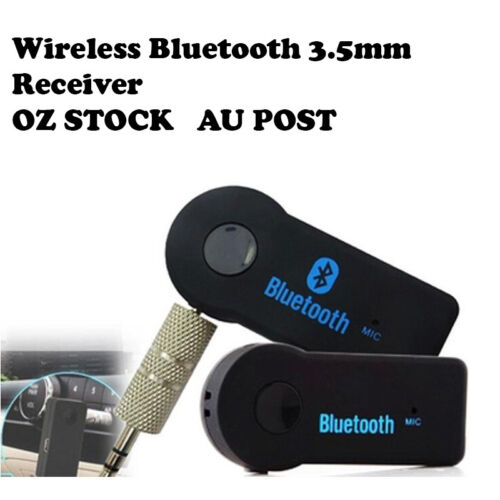 Wireless Bluetooth 3.5mm Audio Stereo AUX Music Home Car Receiver Adapters 1x 2x