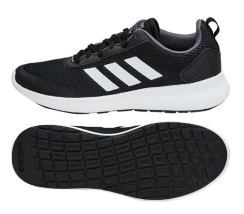 half off e4c6a 722f0 Adidas Men Element Race Shoes Running Black White Training Sneakers Shoe  DB1459