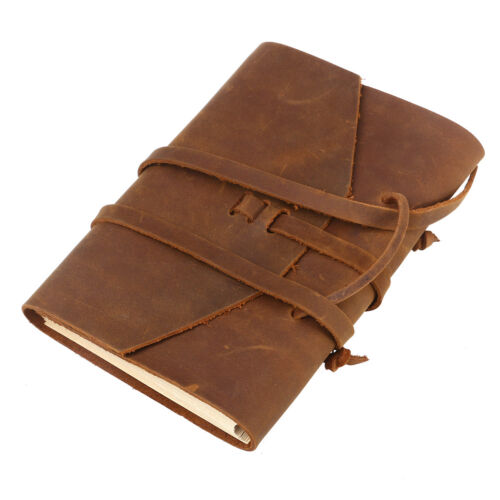 Vintage Bound Handmade Leather Cover Journal TRAVEL Notebook Travellers Diary
