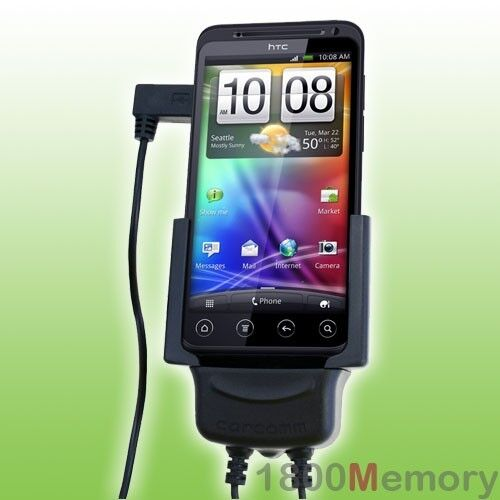 Carcomm Power Cradle for HTC EVO 3D Mobile Car Charger Kit with Antenna Coupler