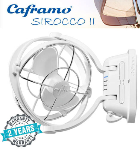 """Caframo Sirocco II Fan 12/24V White Caravan RV Motorhome Camper Trailer Boat <br/> Save 5% with Code """"PURCHASE5"""" at Checkout - T&Cs Apply"""