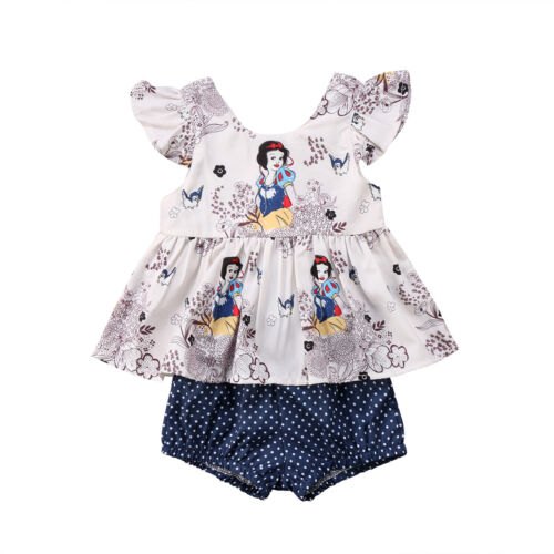 NWT Disney Snow White Baby Girls Tunic Bloomers Diaper Cover Outfit Set