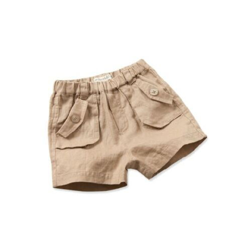 Boys Beige/Natural Linen Shorts Size 3 Years Brand New