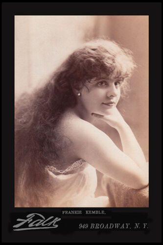 FRANKIE KEMBLE Stage Actress Beauty Vintage 1888 Photograph A+ Cabinet Card