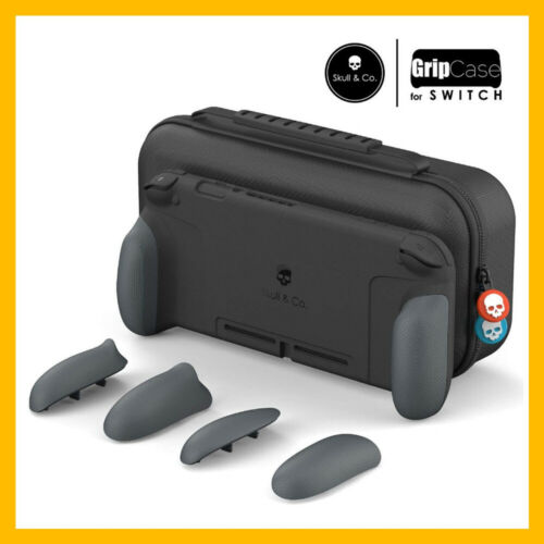 Skull & Co. GripCase Set for Nintendo Switch (with MaxCarry Case & Grips) - Grey