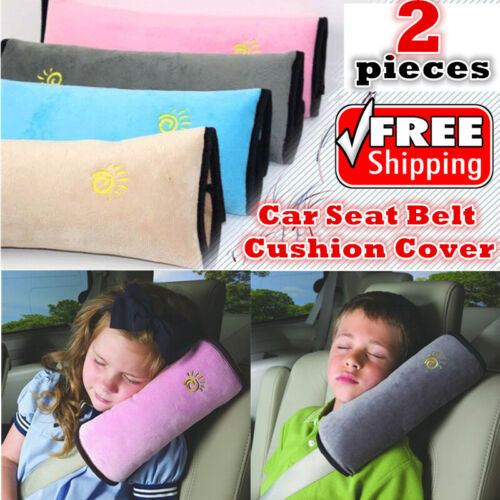 2x pcs Kids Car Seat Belt Cover Car Seat Belt Shoulder Pad Cover Cushion Pillow