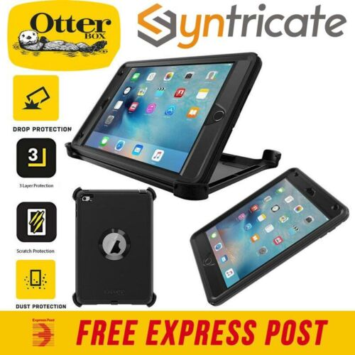 OTTERBOX DEFENDER RUGGED TOUGH STRONG W/ STAND CASE FOR IPAD MINI 4 - BLACK