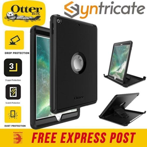 """OTTERBOX DEFENDER RUGGED TOUGH CASE FOR IPAD 9.7 """"(2017/2018) 5TH/6TH GEN BLACK"""