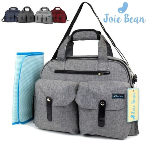 Baby Diaper Bag Nappy Maternity Tote for Mom Parents Travel with Changing Pad