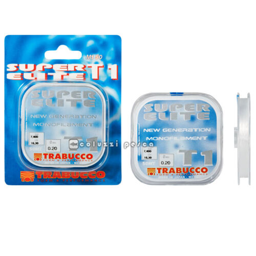 FILO TRABUCCO TERMINALI SUPER ELITE T 1 TOURNAMENT 50 M MADE IN JAPAN PESCA