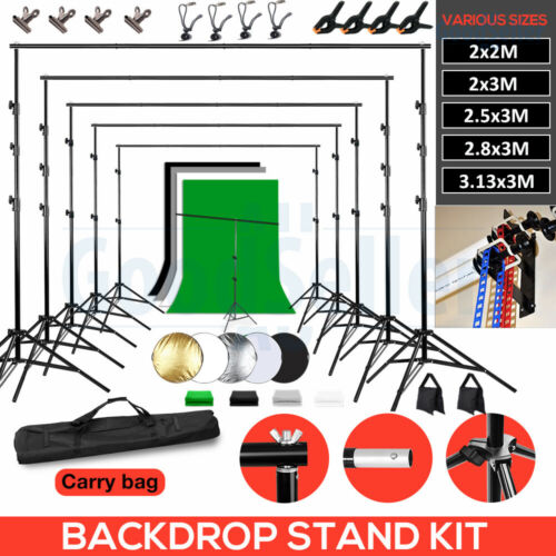 """Photography Black White Green Screen Backdrop Studio Video Background Stand Kit <br/> More Selection⭐Pro 43"""" 5IN1 Disc⭐Backdrop Stand⭐NEWLY++"""