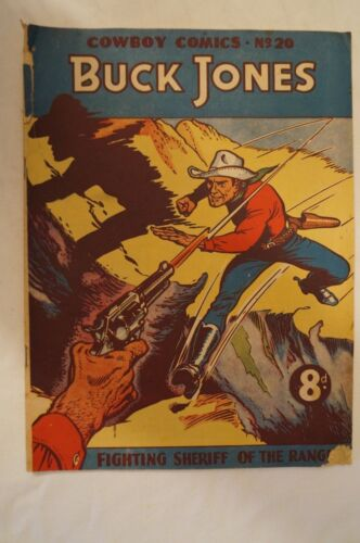 CLASSIC - Rare - Vintage - Australian Comic - Shilling -Buck Jones -Great Titles