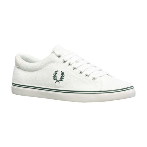 Fred Perry Men's Underspin Heavy Pique Trainers Shoes - B1138-303 - Snow White