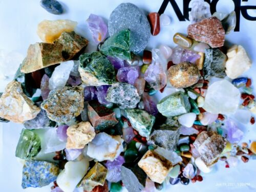 Tumbled Stones Crystal 90+ Natural Mineral Polished Stone Rocks Mix Sizes Lot