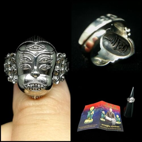 SZ 7.5 Phra Indra Lord Deity Ring AJ Subin Thai Amulet Wealth Wicca Luck Power