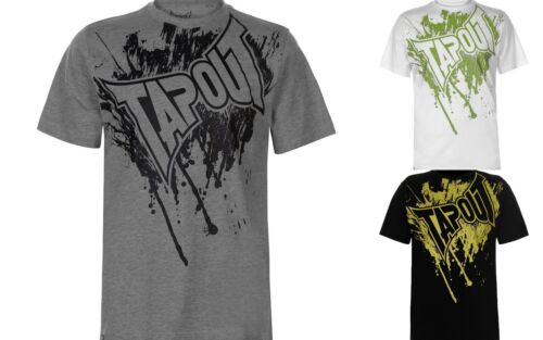 GUYS New Branded Tapout Logo  Printed Logo Short Sleeves T Shirt Top Size S-XXXL