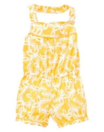 NWT Gymboree Yellow and Black Romper Jumper Yellow Butterfly Many Sizes