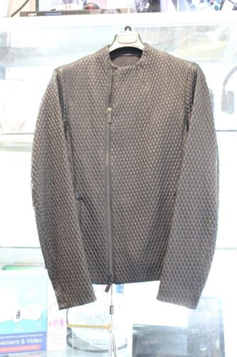 Giorgio Armani Leather Jacket Size 48