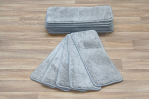 14 Carpet Stair Case Treads Margus Grey 0935 Saxony Large Pads! Noble
